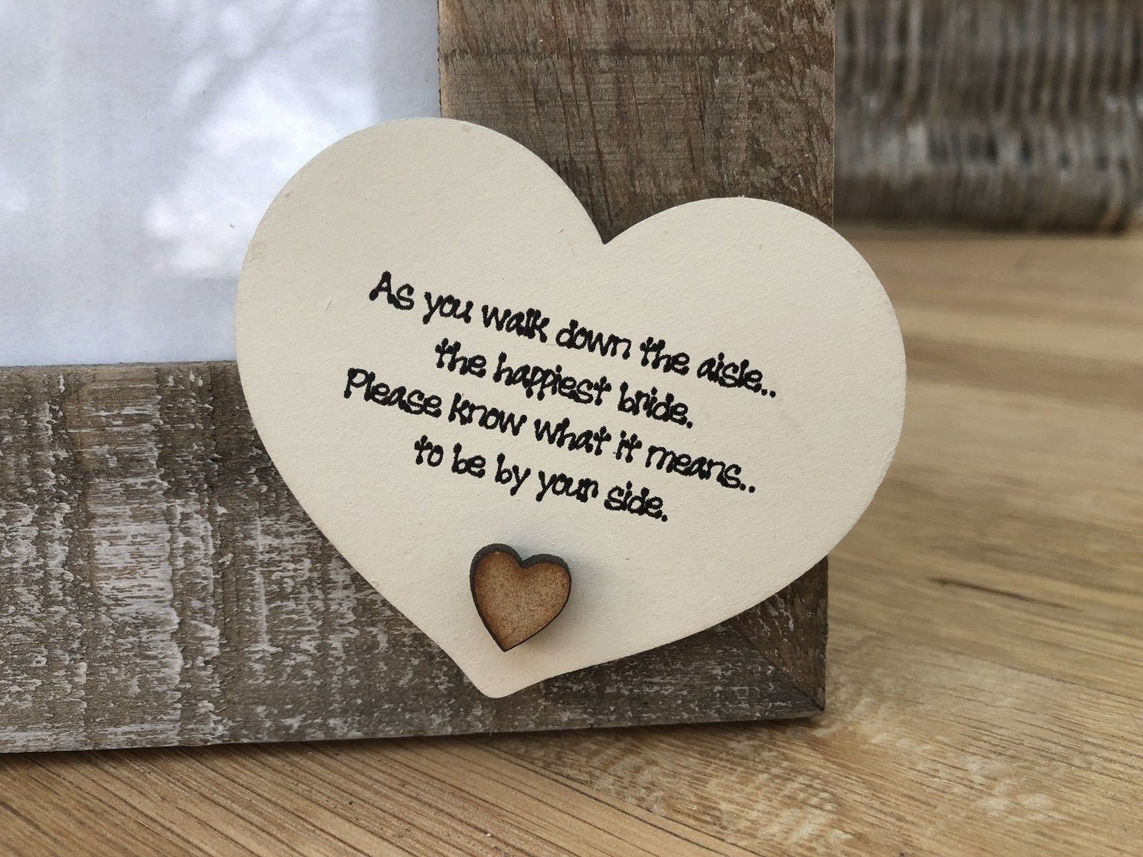 Shabby Personalised Chic Photo Frame Wedding Day Gift For Bride From